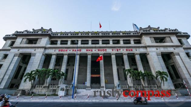 Former Banque de l'Indochine, now the State Bank of Vietnam - Saigon waterfront.