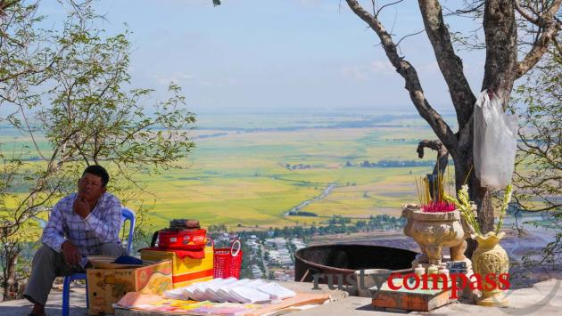 From the top of Sam Mountain, Chau Doc