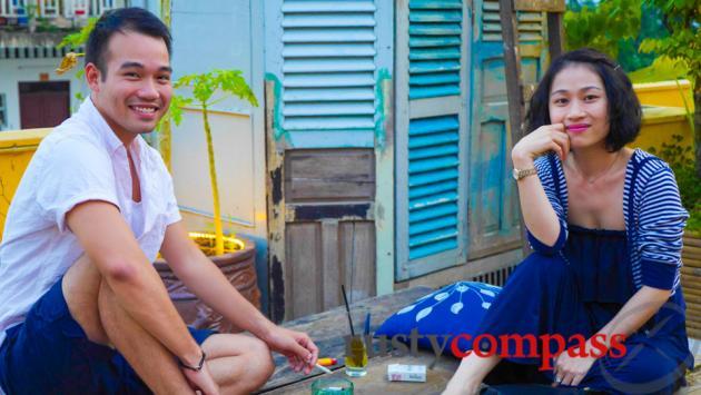 Huy and Nhu, owners, Secret Garden Restaurant