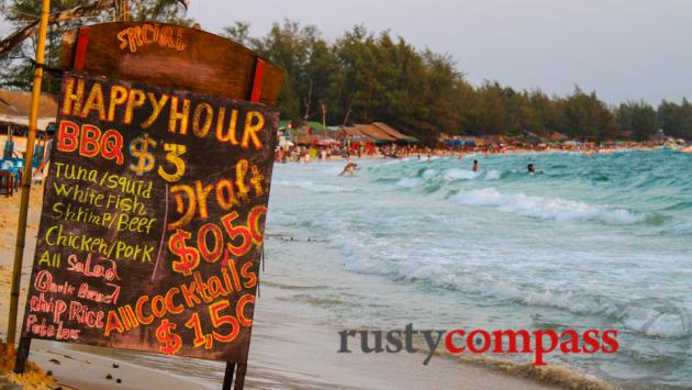 Sihanoukville's marketing secret - 50 cent beer.