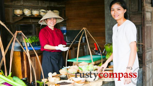 Friendly faces at the Market where fresh Vietnamese dishes are served.