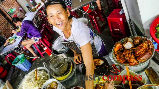 Madam Lien's famous cao lau stall, Hoi An