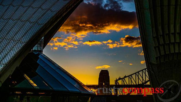 The Sydney Opera House and its companion.