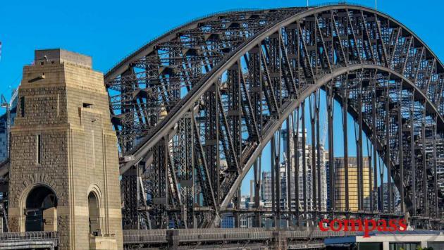 Walking across Sydney Harbour Bridge