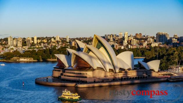 The Opera House from the walk across Sydney Harbour Bridge