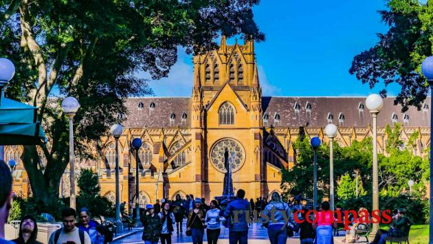 St Mary's Cathedral and Hyde Park - Sydney