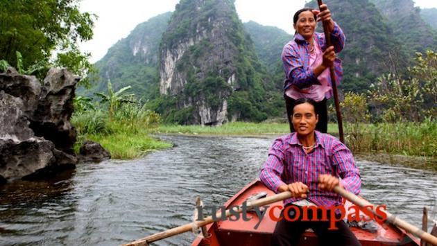 Boat women, Tam Coc
