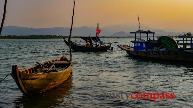 Sunset over the Tam Hai estuary