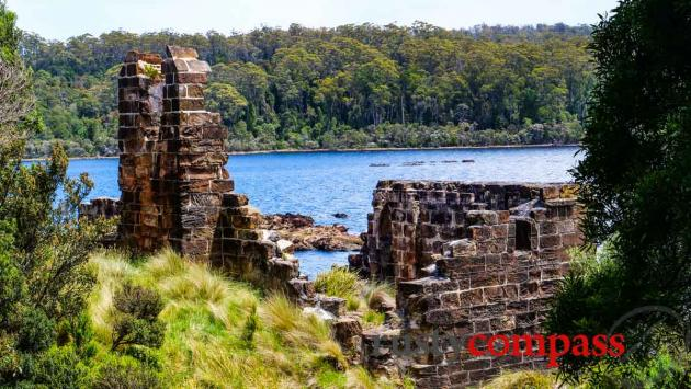 Sarah Island ruins, Macquarie Harbour