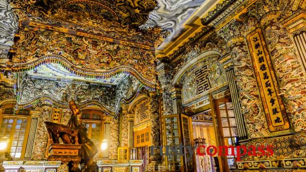 The incredible interior of Khai Dinh's Tomb