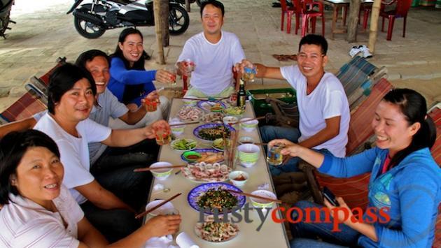 Seafood stall, Thuan An Beach