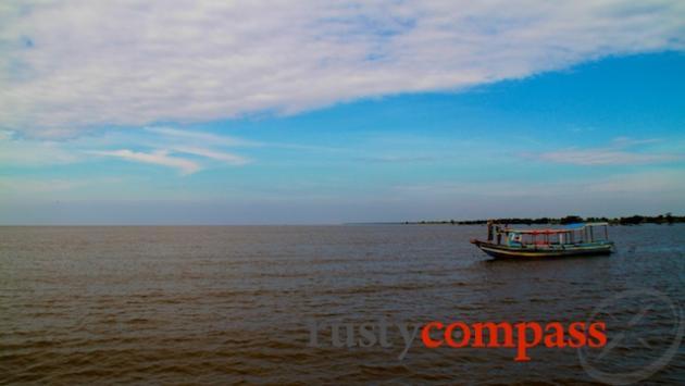 Ton Le Sap Lake near Kompong Phluk. Even in the dry season, the lake is vast.