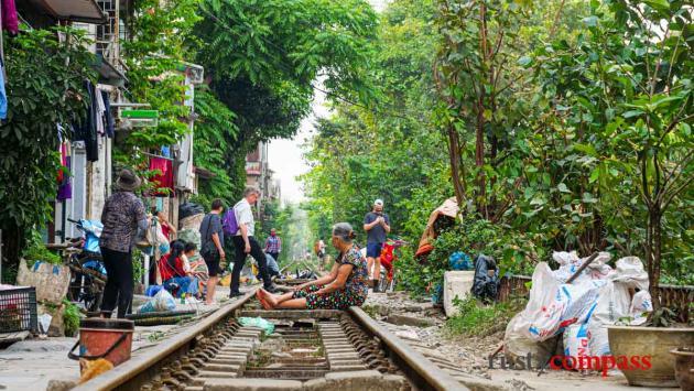 Train St Hanoi - near Dien Bien Phu St