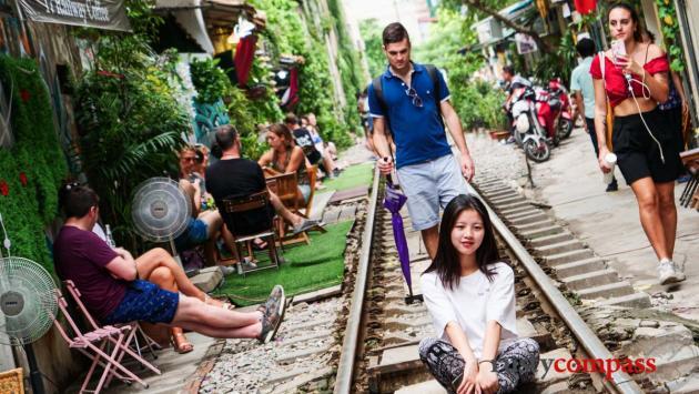 Train St Hanoi - near Kham Thien St