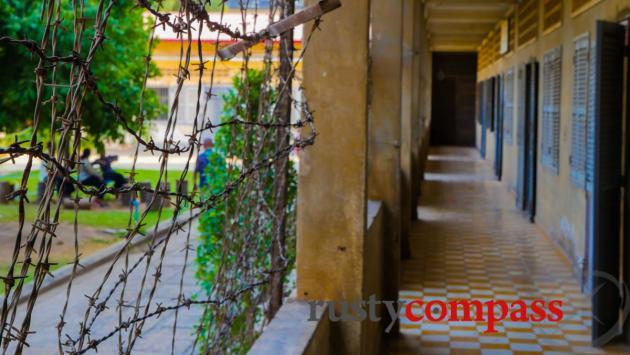School turned Khmer Rouge prison. Tuol Sleng S21