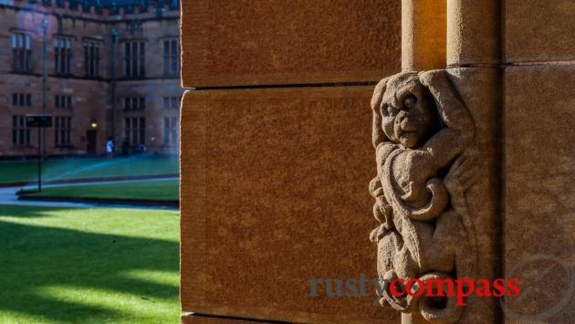 The historic Main Quad at the University of Sydney
