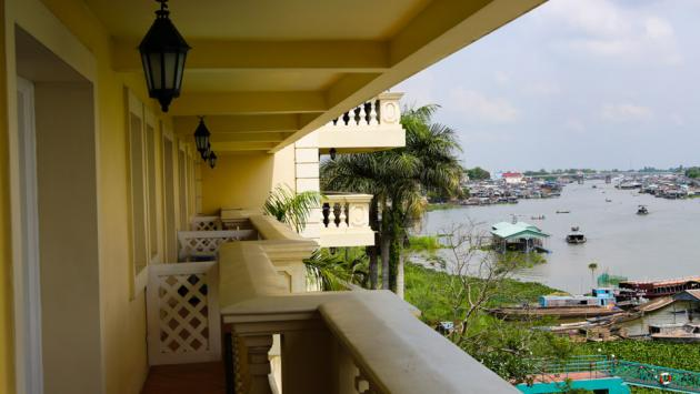 Balcony over the Mekong, Deluxe Room, Victoria Chau Doc
