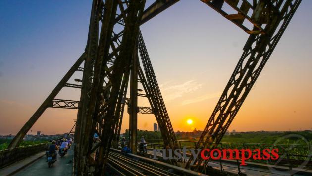 Historic Long Bien Bridge, Hanoi