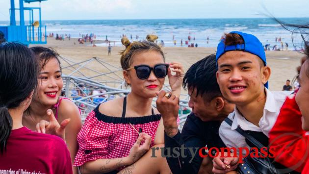 Young locals on Long Hai beach east of Vung Tau