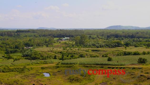 The view across the old base from Nui Dat hill.