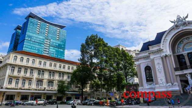 Historic heart of Saigon - Continental Hotel and Opera House.