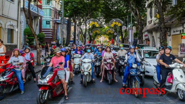 Motorbikes rule - Saigon