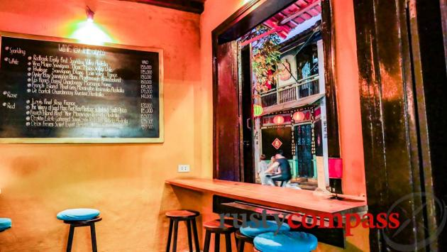 The window out - White Marble Wine Bar, Hoi An
