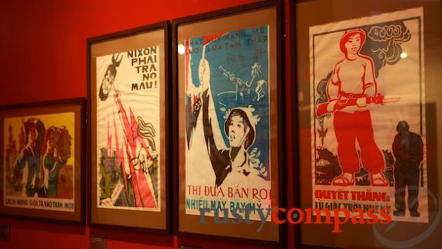 Propaganda posters praise the bravery of women fighters