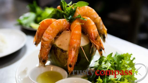 Shrimp in coconut -Yen's Restaurant, Nha Trang
