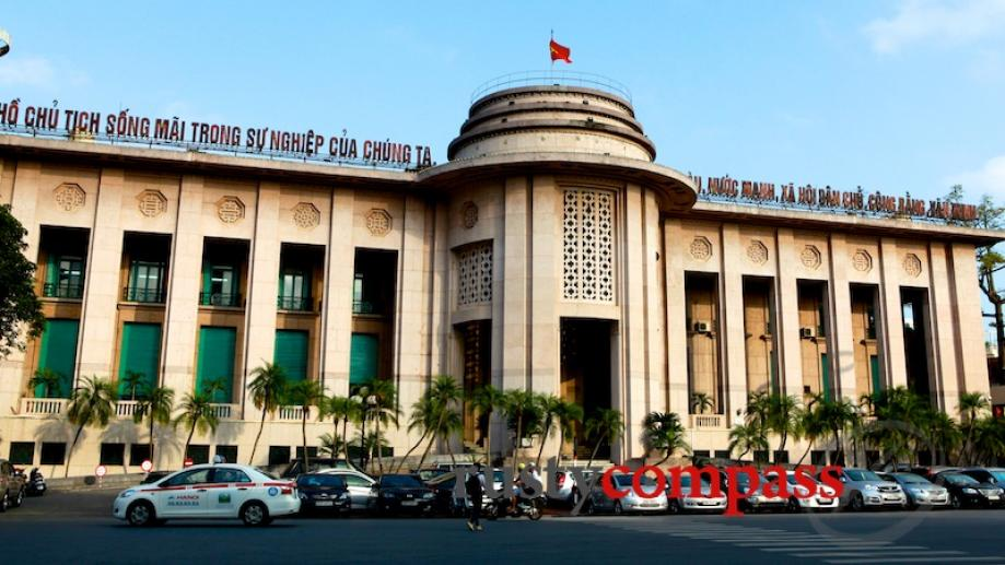 Hanoi's State Bank headquarters. With the banking sector in crisis,...