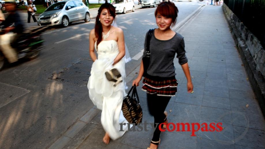 The barefooted bride - Hanoi.