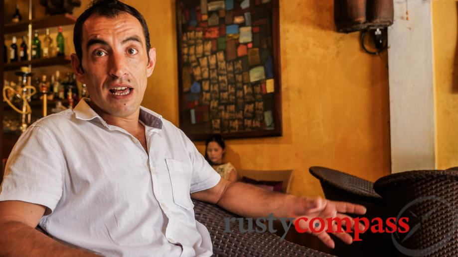 Italian Archaeologist Federico co-owns Hoi An's Bazar Cafe and he's...