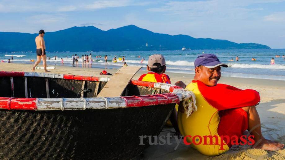 Australian trained surf lifesavers on Danang's My Khe beach.