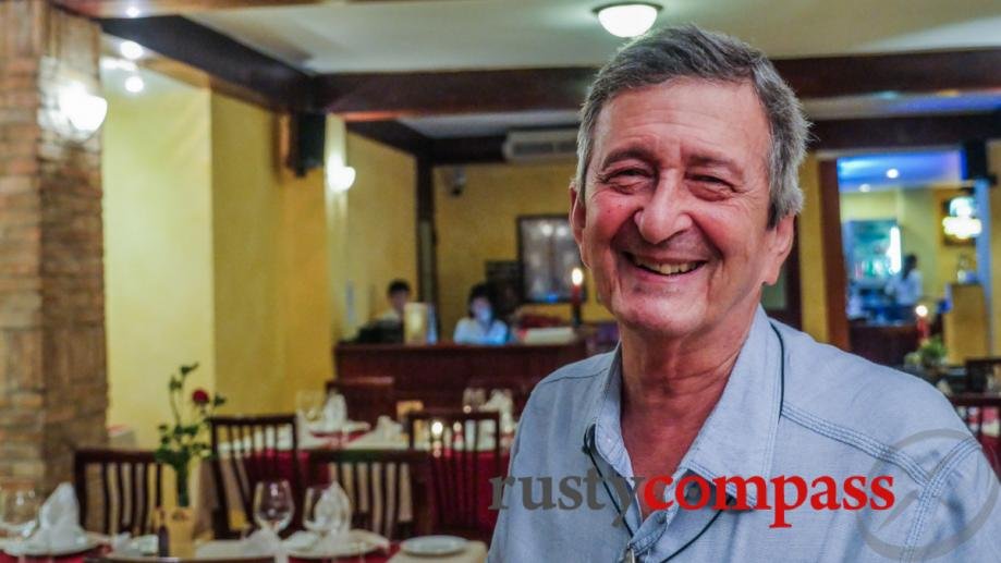 Italian born Carlo, owner of Pendolasco restaurant is a veteran...