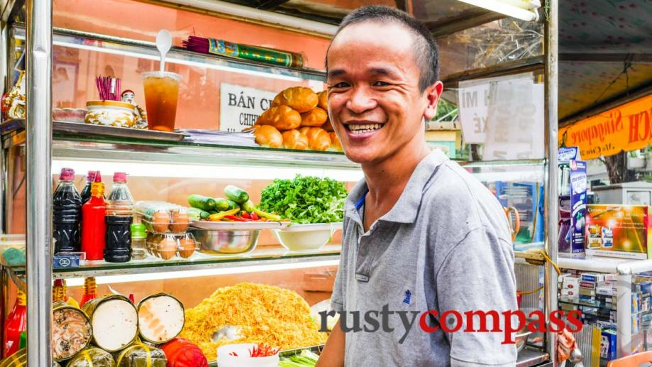 Saigon's got it all - delicious streetside banh mi (Vietnamese...