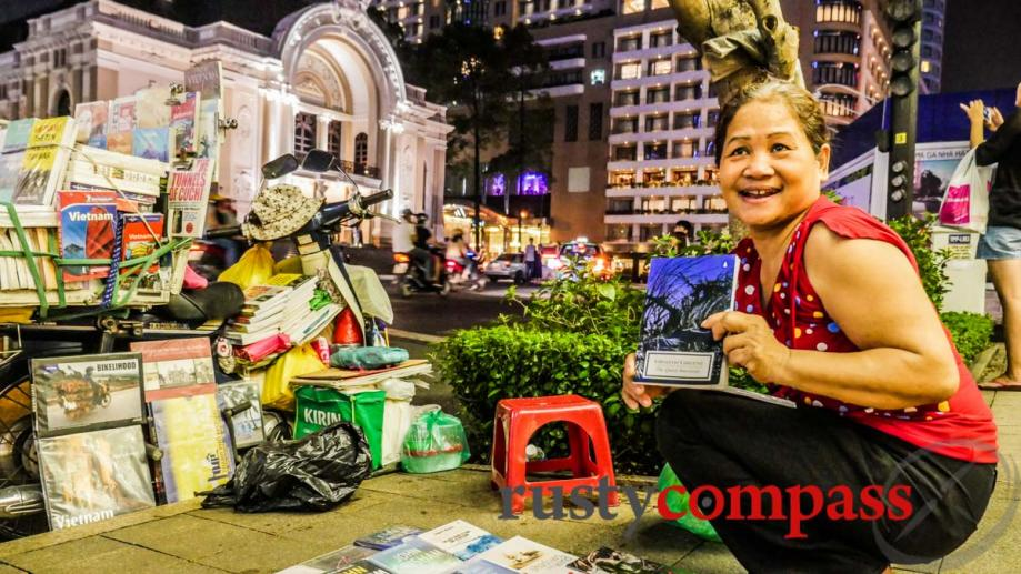 A living treasure - this deaf bookseller on Saigon's Dong...