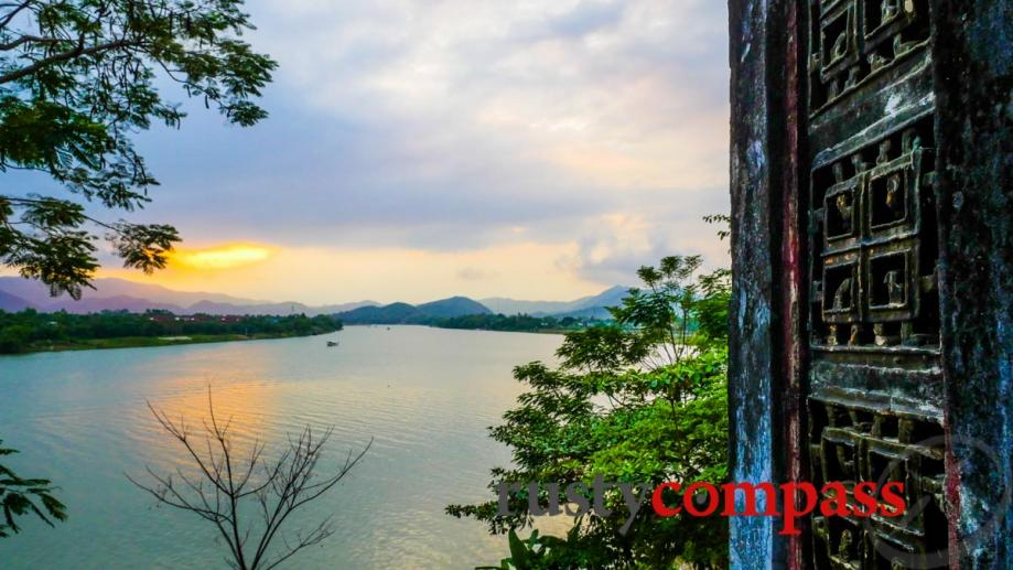 Hue's beautiful Perfume River from Thien Mu Pagoda.