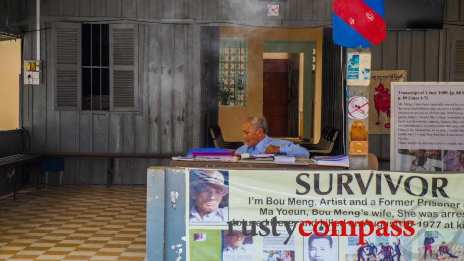 Bou Meng, one of the few survivors of the Khmer...
