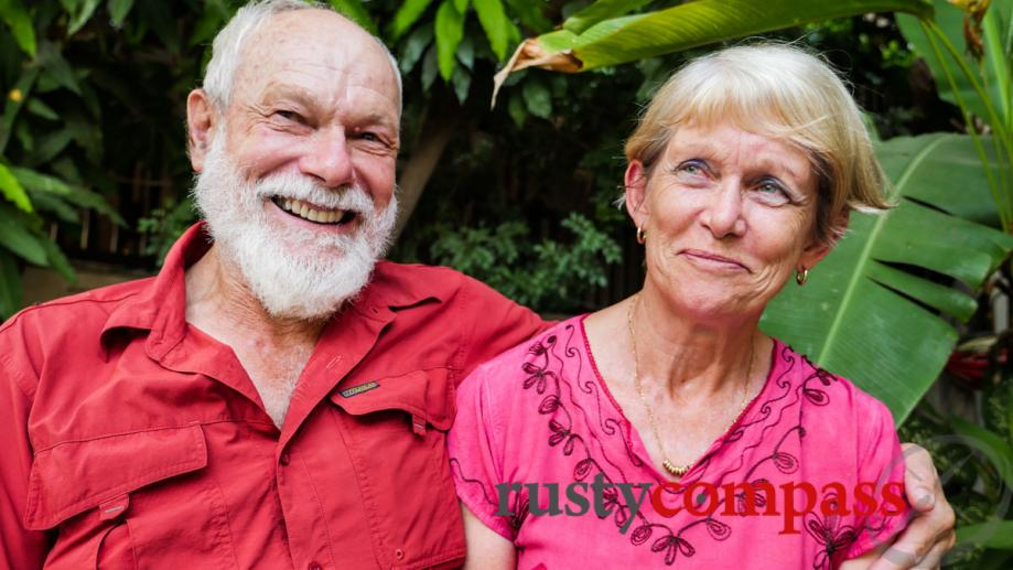 Met this lovely, retired  Australian couple in Siem Reap....