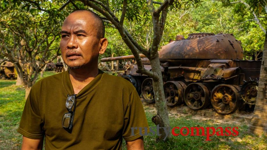 A former Khmer Rouge soldier, who was forced to join,...
