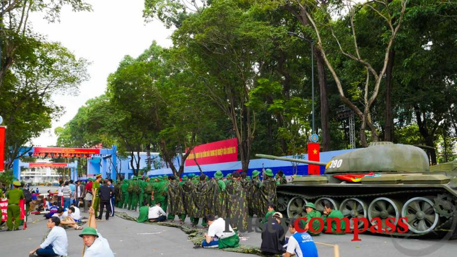 Saigon gears up for a parade to mark the 40th...