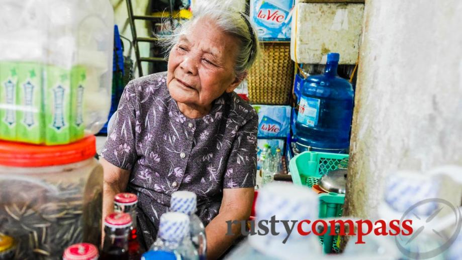 This 90 year old woman kept serving water through the...