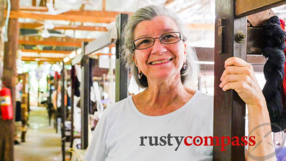 Carol Cassidy, a pioneer in bringing unique Lao textiles to...