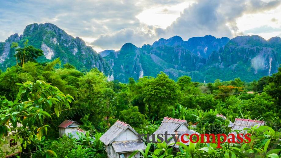 Beautiful Vang Vieng - the one-time backpacker party centre is...
