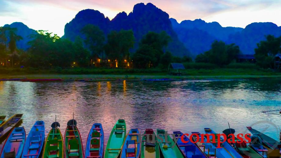 The river at Vang Vieng