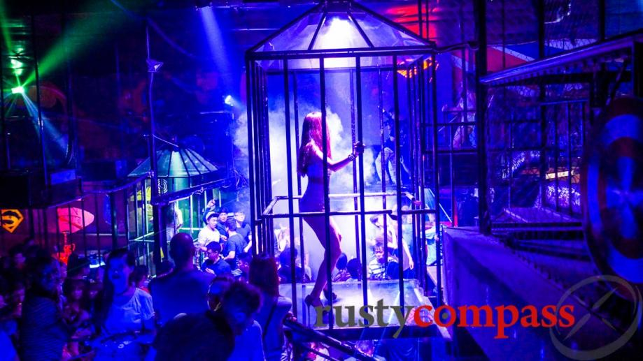 Hanoi's once sedate nightlife has become raunchier with the opening...