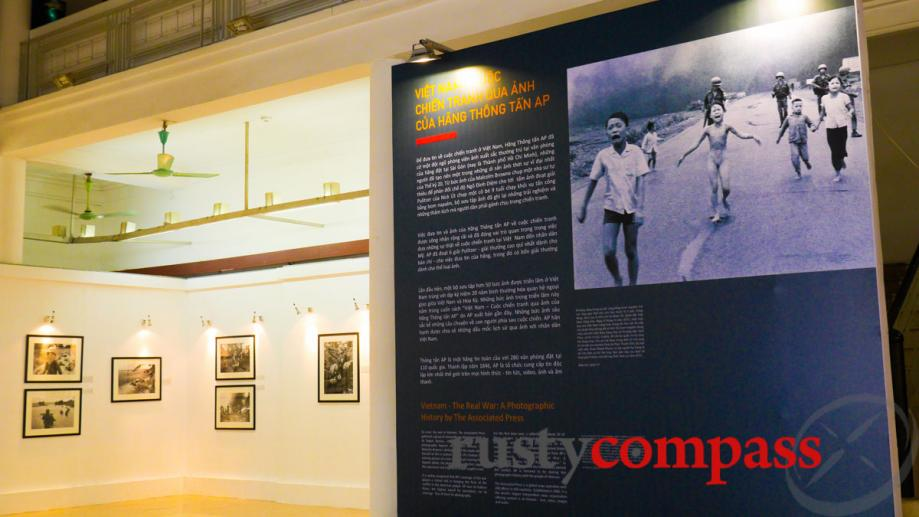 An exhibition of photography from the Vietnam War was organised...