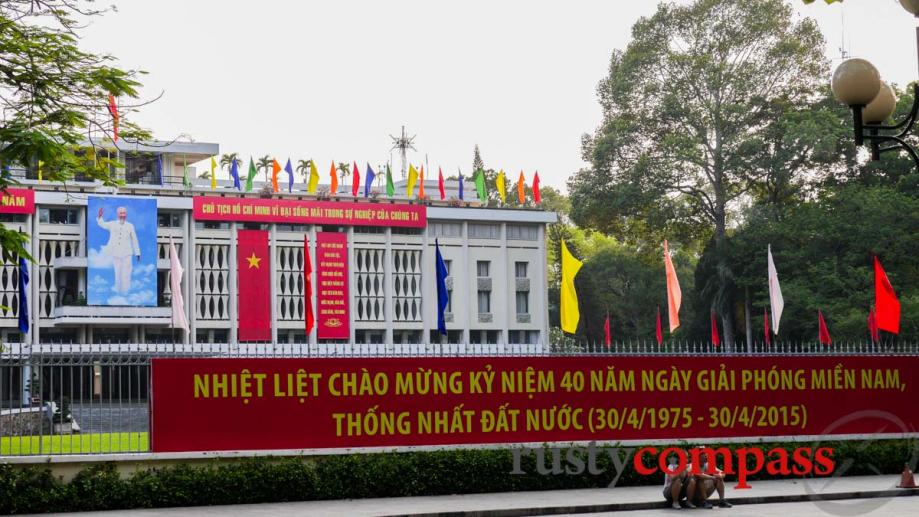 Where it all ended. Saigon's former Presidential Palace - now...