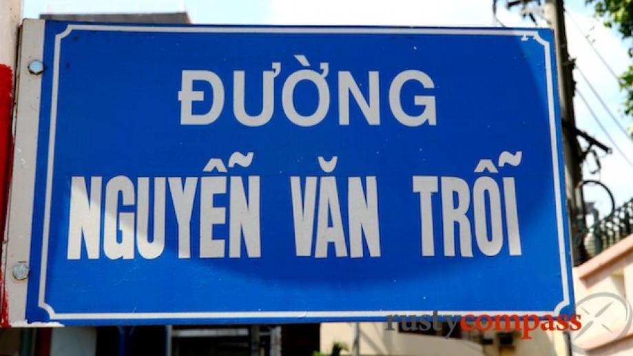 One of Saigon's major roads, the main airport road is...