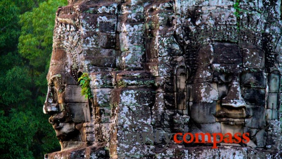 The incredible faces of the Bayon.